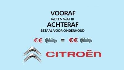 Bekijk De Citroën Onderhoudscalculator
