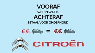 De Citroën Onderhoudscalculator