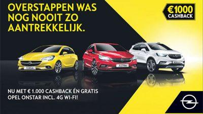 Bekijk Actie: € 1000 terug op een nieuwe Opel