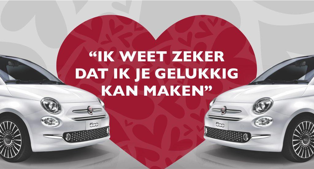 Fiat 500 met € 6.000,- Valentijnsvoordeel