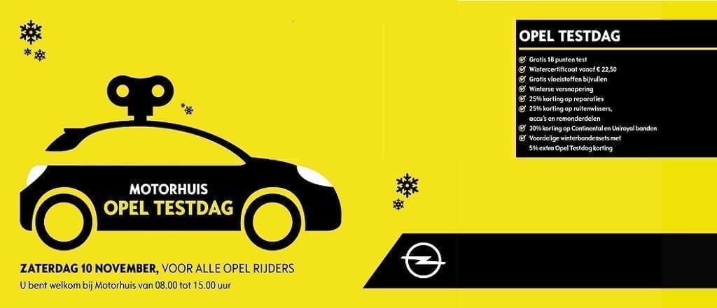 Opel Testdag 10 november