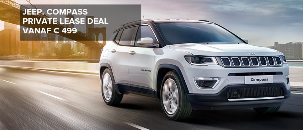 Jeep Compass vanaf € 499,- Private Lease