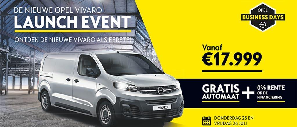Launch Event nieuwe Opel Vivaro