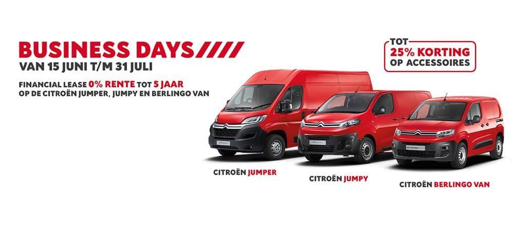 Tijdelijk 0% financiering op de bedrijfswagens van Citroën